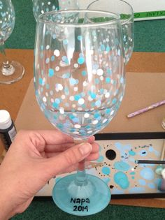 Easy Hand Painted Wine Glass Tutorial