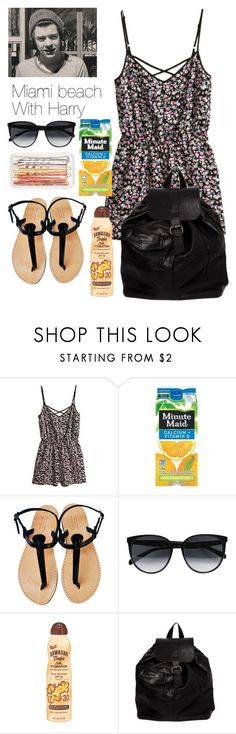 """""""Miami beach"""" by harry-styles-inspired-outfits ❤ liked on Polyvore featuring H&M, CÉLINE, Hawaiian Tropic, Pull&Bear and J.Crew"""