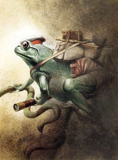 Dr. Bull Frog.  Mark Twain, A Strange Expedition, illus. Robert Ingpen (Sydney: P.I.C., 1988)