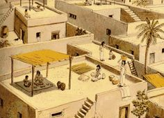Ancient egypt house model