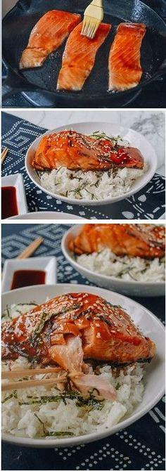 Salmon Teriyaki Rice Bowl recipe by the Woks of Life