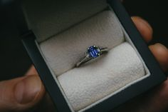 Sapphire & Diamond Engagement Ring – Moira Patience Fine Jewellery Trilogy Engagement Ring, Sapphire Diamond Engagement, Baguette Diamond, Fine Jewelry, Jewellery, Diamond Jewelry, Wedding Rings, Patience, Diamond Jewellery