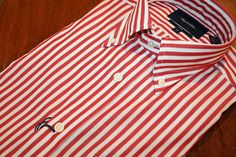 Faconnable  Striped  Sport Shirt  Red | #Mondo #Uomo #Naples #Fashion