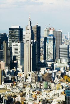 ✮ Japan, Tokyo, Shinjuku, High rise buildings of Shinjuku skyline