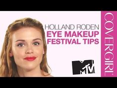 Holland Roden from MTV Teen Wolf: Festival Cat Eye Makeup Tips | COVERGIRL (May 2015)