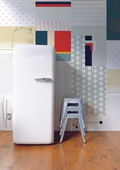 Cut & Paste Wallpaper Collection by All The Fruits in interior design home furnishings art  Category