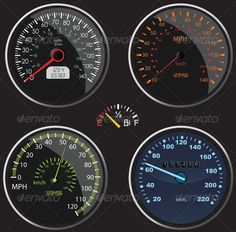 VECTOR DOWNLOAD (.ai, .psd) :: http://jquery-css.de/pinterest-itmid-1006369340i.html ... Speedometers Vectors ...  analog, car, digital, fast car, fuel, gasoline, gauge, kilometres, miles, oil, speed, speedometers, traffic  ... Vectors Graphics Design Illustration Isolated Vector Templates Textures Stock Business Realistic eCommerce Wordpress Infographics Element Print Webdesign ... DOWNLOAD :: http://jquery-css.de/pinterest-itmid-1006369340i.html