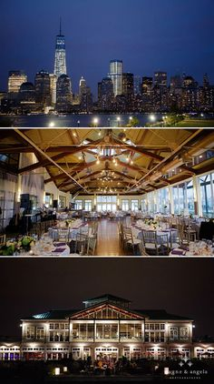 Awesome shots of Liberty House, Grand Ballroom, and the view of the NYC skyline from this beautiful wedding! Love it!