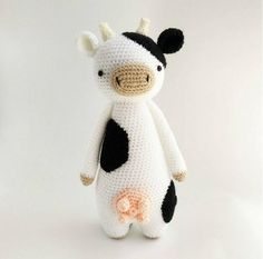 This is a pattern to make this lovely cow!The pattern includes many pictures and detailed explanations. It's in PDF format and will be available for download immediately after purchase.It is available in: - EnglishThe cow in the picture is made with Stylecraft Special DK yarn on a 2.75 (size C) hook and turned out to be 25 cm tall (about 11.8 inches).Level: intermediateThe following stitches are used: Regular stitch, decrease stitch, increase stitchThe following methods are used: Crocheting…