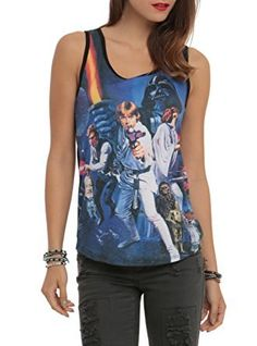 Let the Force be with you every time you wear this tank top from Her Universe. The racer back tank top features a Star Wars poster art sublimation print design on front. dry lowMade in USAListed in junior sizes Casual Outfits, Summer Outfits, Running Costumes, Geek Fashion, Fandom Fashion, Fashion Ideas, Star Wars Tshirt, Printed Tank Tops, Guys And Girls