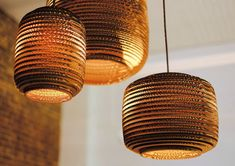 Lampe suspension / contemporaine / en carton SCRAPLIGHTS : AUSI graypants