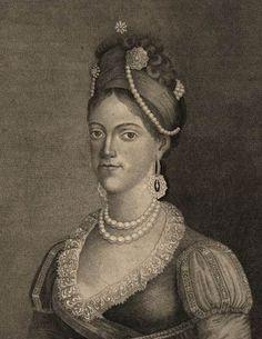 Rainha Carlota Joaquina de Bourbon, esposa de Dom João VI, mãe de D Pedro I
