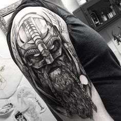 "11.6k Likes, 187 Comments - Fredão Oliveira (@fredao_oliveira) on Instagram: ""Viking! Thank you Nikolaj . @wickedworkshoptattoo #electricink"""