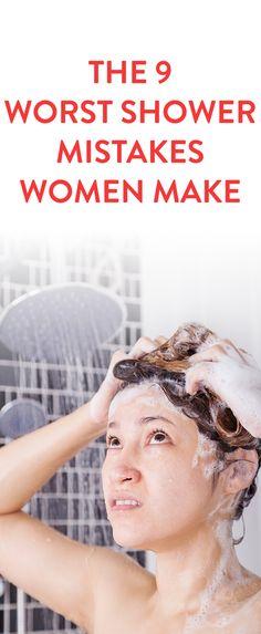 The 9 Worst Shower Mistakes Women Make
