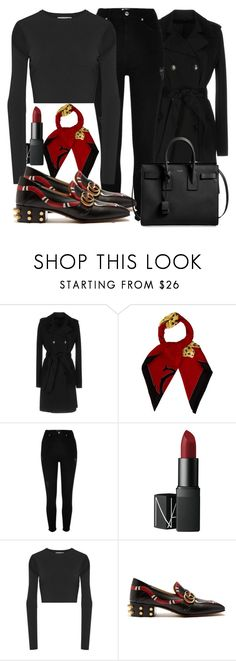"""""""Untitled #5706"""" by beatrizvilar ❤ liked on Polyvore featuring Pinko, Cartier, River Island, NARS Cosmetics, Opening Ceremony, Gucci and Yves Saint Laurent"""