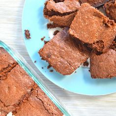 Healthy Ghirardelli Brownies made with all natural, healthy ingredients so go ahead and make these tonight!
