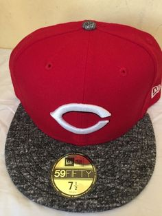 pretty nice 891f4 6217f ... reduced new era cincinnati reds home 59fifty fitted hat red grey mlb cap  size 7 5