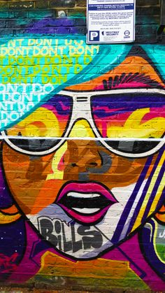 Shoreditch, London. The place with the most astounding street art! We saw lots...