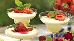 Fräsch dessert med mycket sommarsmak.