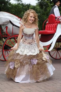 Charming Spaghetti Straps Pick-up Ball Gown - my daughters very favorite dress