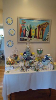 Baby Shower, Beach themed, candy buffett