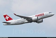 Photo of HB-JBF - Bombardier CSeries CS100 - Swiss