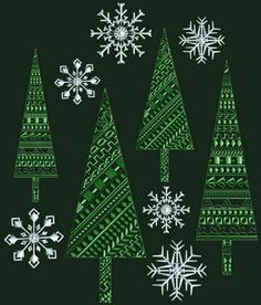 Free Embroidery Designs: Winter Wonderland - I Sew Free   This site will lead you to lots of lots and lots of free sites!  Love it!