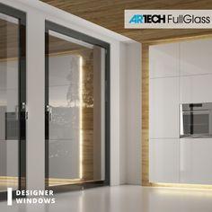 Black modern windows - All About Balcony Entrance Doors, Patio Doors, Modern Balcony, Modern Windows, Bathroom Medicine Cabinet, Kitchen White, Luxury, Design, Black