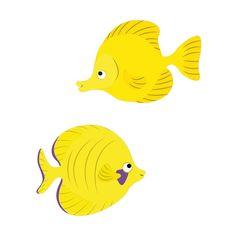 Yellow Fishes Pesciolini Gialli Coppia Wall Sticker Adesivo da Muro