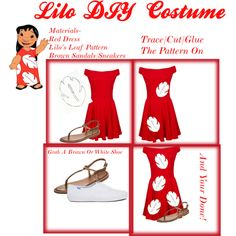 Lilo's DIY Halloween Costume by disneyfash1on on Polyvore featuring Motel, Keds and Inuovo