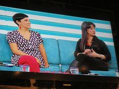 Andrea Bertocchi y Sara Sara en el programa 3G de canal 6 Plus TV