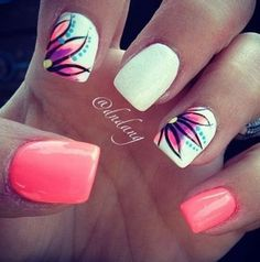 Nail art is a very popular trend these days and every woman you meet seems to have beautiful nails. It used to be that women would just go get a manicure or pedicure to get their nails trimmed and shaped with just a few coats of plain nail polish. Gorgeous Nails, Love Nails, How To Do Nails, Pretty Nails, My Nails, Nails Today, Fantastic Nails, Amazing Nails, Fancy Nail Art
