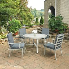 Home Styles South Beach 5 Piece 48 in. Round Outdoor Patio Dining Set - 5700-328