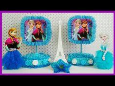 Decoracion de Frozen Usando Solo Papel Crepe - YouTube Frozen Party, Cake Pops, Baby Shower, Children, Youtube, Videos, Parties Kids, Ornaments, Paper Envelopes
