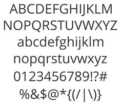 Open Sans: Very clean font family, also on Google web fonts.