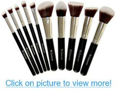 50% OFF NOW! Lamora™ Professional Makeup Kabuki Brush Set - Premium Cosmetic Brushes Set Kit - 10 Piece Collection - 5 Pcs Soft Synthetic Buffing Brush Included - Flat Top Kabuki - Fashionable Brush Cup Holder - Face Eye Brush Set - Apply Blush Powder Foundation - Best Choice - Case / Bag / Pouch - Starter Essential Tool - For Girls and Women - For Professionals - Real Pro Artist Designer Techniques - Travel - Organizer - Container - Quality Compares To Brand Names - Best Friend Gift Idea…