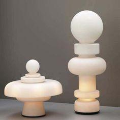Large Bobo Piccoli 'Re' Table or Floor Lamp in Blown Glass for Fontana Arte   Chairish