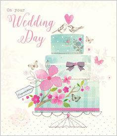 Wedding Cake - Eleri Fowler for Abacus Cards - Greetings Cards, Gift Wrap & Stationery elerifowler.com
