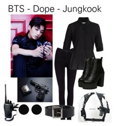 """""""BTS Dope Outfit from Jungkook"""" by schnpri ❤ liked on Polyvore featuring POLICE, Lee, Splendid, AeraVida and Dolce&Gabbana"""