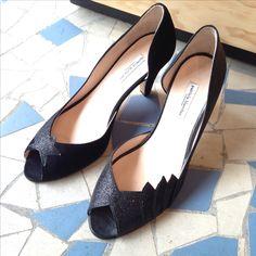 Patricia Blanchet | Black is Black | #patriciablanchet #chaussures #shoes #escarpins #pumps #noir #black #deepblack #blackisblack #blackglitter