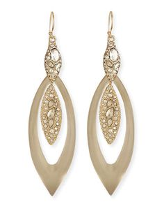 Marquis Lucite & Crystal-Encrusted Earrings by Alexis Bittar at Neiman Marcus.