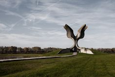 Memorial to the victims of the concentration camp in Jasenovac (1966), Croatia. | Arna Mackic - Jasenovac