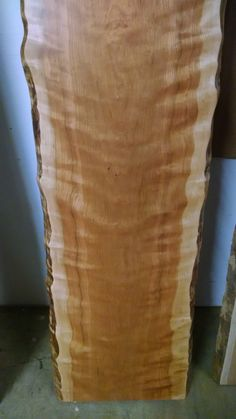 This listing is for finished slabs of Curly Cherry that are great for tables, small breakfast bars, large bar tops, mantels, shelves, and