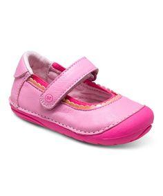 Look what I found on #zulily! Pink Sensory Response Technology™ SM Savanah Leather Mary Jane #zulilyfinds
