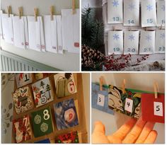 easy DIY Advent Calendars out of paper