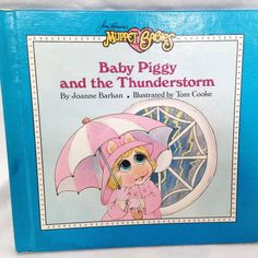 """Muppet Babies """"Baby Piggy and the  Thunderstorm"""" -Vintage Kids Book 1987 by RetroVintageHeart on Etsy"""