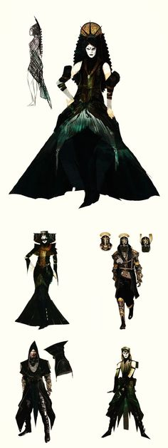 Tevinter fashion in The Art of Dragon Age: Inquisition - I hope we see Tevinter, Nevarra and Antiva in the next game.