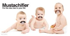 Moustache baby pacifiers funny