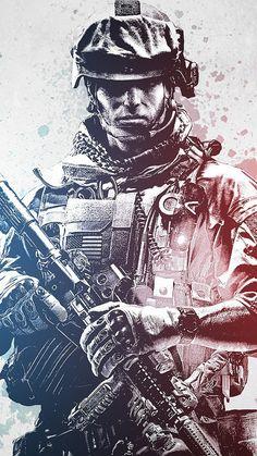 Battlefield 3 Soldier Illustration iPhone 6 Wallpaper