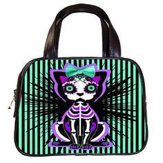 Calavera Kitty Handbag Preorder Deposit by LttleShopOfHorrors, $10.00